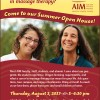 AIM Open House August 3rd