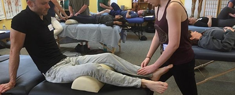 AIM Students learn Sports Massage!