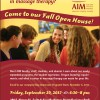 Remember AIM Fall Open House is Friday 29th – Join Us!