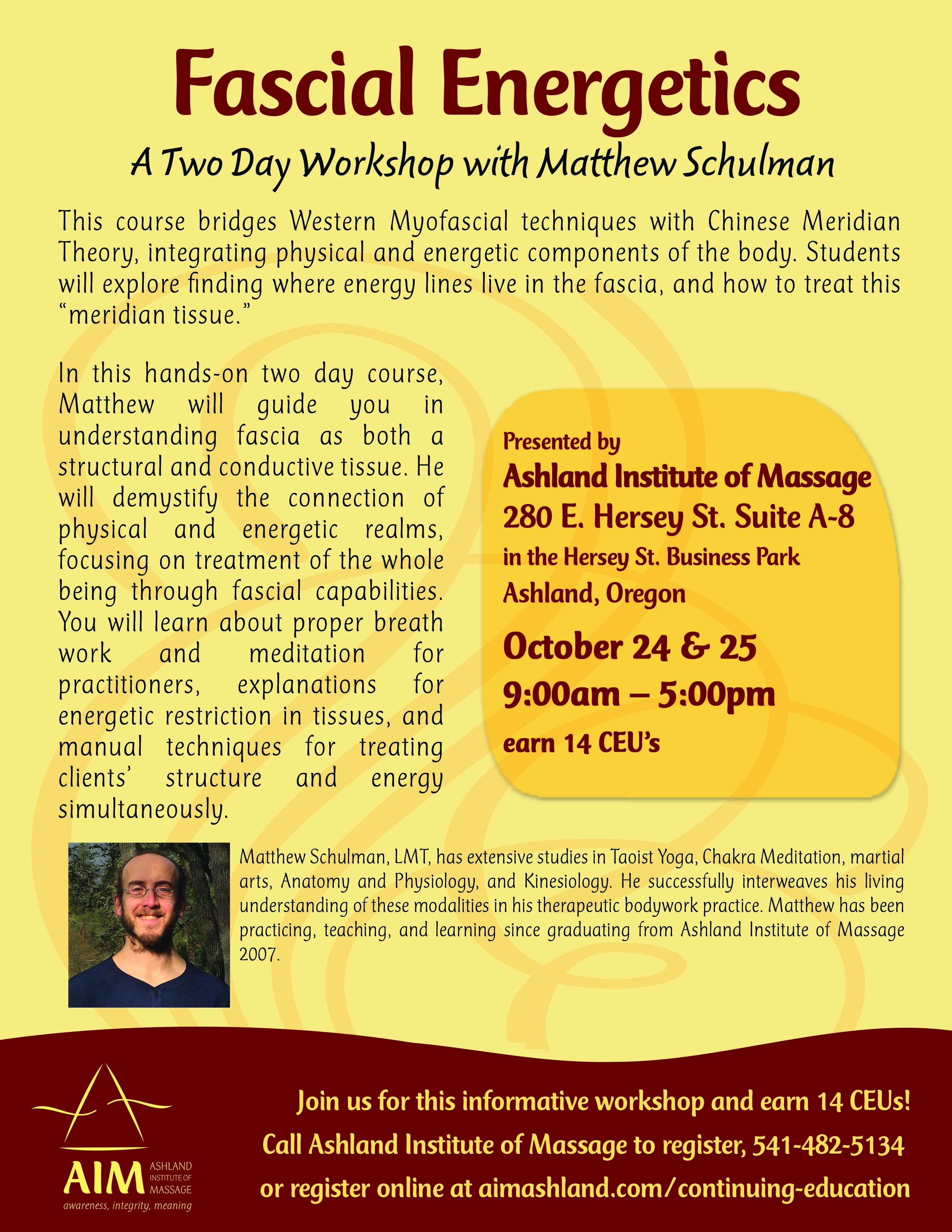 Check out this great class: Fascial Energetics   Ashland Institute ...
